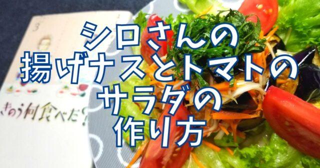 揚げナスとトマトのサラダ